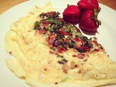 Egg White Omelet with Sun-dried Tomatoes, Feta and Spinach
