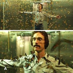 Matthew McConaughey standing in a room full of butterflies. This is my favorite scene from Dallas Buyers Club . Dallas Buyers Club, Series Quotes, Cindy Sherman, Movie Shots, Images Vintage, Film Inspiration, Matthew Mcconaughey, About Time Movie, Music Film