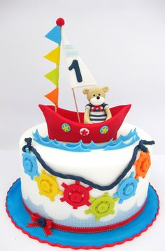 Sailing cake, cute boat