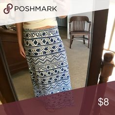 Maxi Skirt Never been worn, perfect condition. Size Medium, but fits sizes S-L. Cato Skirts Maxi