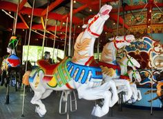 Whether they're riding bugs at the Bronx Zoo or taking in the gorgeous Manhattan skyline from Jane's Carousel, these eight carousels are sure to thrill your kids.