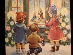"""VINTAGE """"THE SPIRIT OF CHRISTMAS!!"""" CHRISTMAS GREETING CARD"""