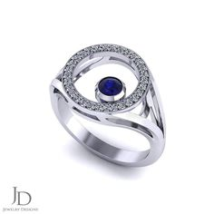 If you love sapphires, you may be intrigued by this diamond circle sapphire ring created by the artisans at Jewelry Designs in Danbury, CT. Sapphire Jewelry, Beautiful Rings, Jewelry Rings, Jewelry Design, Wedding Rings, Engagement Rings, Gemstones, Diamond, Instagram Posts