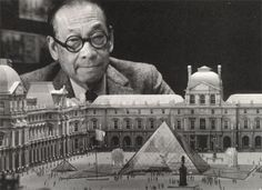 towardanarchitecture:    I.M. Pei with a model of the Louvre Pyramid.