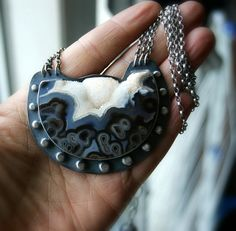 Snow Valley - Piranha Agate Sterling Silver Necklace