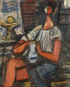 Sigmund Joseph Menkes, Seated Girl with Pitcher
