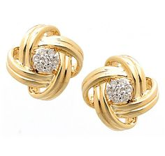 This stunning pair of gold diamond love knot earrings are a fashion classic . - This stunning pair of gold diamond love knot earrings are a fashion classic that belong in ever - Solitaire Earrings, Diamond Earrings, Stud Earrings, Diamond Tops, Gold Earrings Designs, Sterling Silver Earrings, Diamond Jewelry, Women Jewelry, Online Shopping