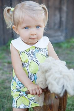 Lemon Dress, Organic Dress, Tank Dress, Peter Pan Collar Dress, Baby Dress, Toddler Dress, Kids Dress by TheSproutedArrow on Etsy https://www.etsy.com/listing/235781390/lemon-dress-organic-dress-tank-dress