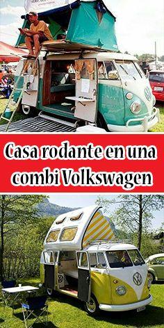 Casa rodante en una combi Volkswagen #Volkswagen #Combi #Casarodante Volkswagen, Vehicles, Camper Trailers, Mistress, Motors, Organize, Traveling, Autos, Car