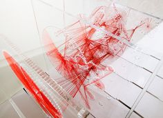 Knots, Red Thread Sculpture | June Kim | Archinect