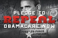 Pledge to #RepealObamacare now! Sign our petition here!