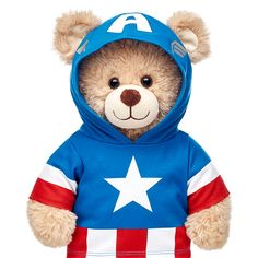 Captain America Hoodie | Build-A-Bear Workshop