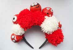 Learn how to make a #RedNoseDay pom pom crown that'll have 'em in stitches. Find out how you can help kids in need by visiting rednoseday.org. | Red Nose Day USA
