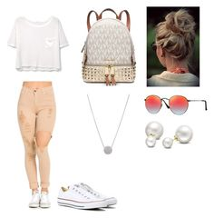 """""""Hot summer outfit"""" by katelinbullock on Polyvore featuring Converse, MANGO, Michael Kors, Ray-Ban and Allurez"""