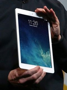 white iPad case.
