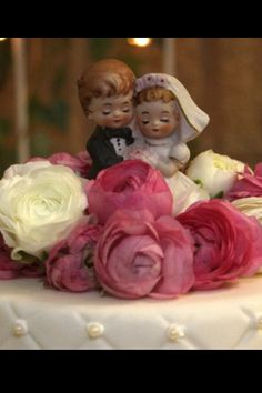 Our cake topper. We used the cake topper that my parents used when they got married in 1980.
