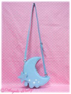 Melty Moon Shoulder Bag in Sax from Angelic Pretty - Lolita Desu