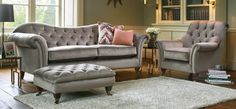 Our Hampton 2 seater sofa in a luxurious velvet and button design comes in a range of stylish colours. A small sofa making a big impression! Room Interior Design, Interior Design Inspiration, Leather Furniture, New Furniture, Living Room Sofa, Home Living Room, Dark Wooden Floor, Classic Living Room, Three Seater Sofa