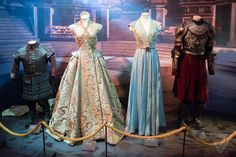 The particularly regal clothes of King's Landing shows off some of costume designer Michele Clapton's most impressive work. From left to right: Tyrion Lannister, Sansa Stark, Margaery Tyrell, and Joffrey Baratheon.