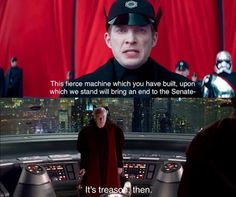 Are you threatening me, First Order?!
