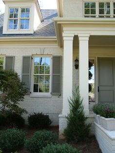 Porch painted brick Design Ideas, Pictures, Remodel and Decor