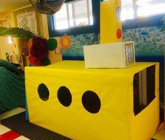 Yellow Submarine for the Dramatic play area in preschool