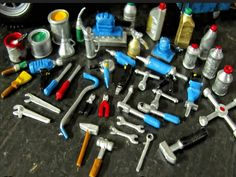 Werkzeug Tool Kit 1/18 Öl Dose Hammer Zange Diorama Werkstatt Garage Deko Set   eBay
