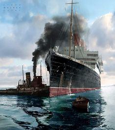 RMS Aquitania, Cunard Line.