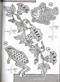 renda de bilros / bobbin lace Animais / Animals