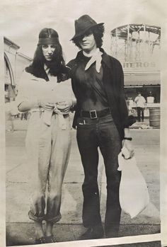 Robert Mapplethorpe in 1969 with Patti Smith at Coney Island by Michel Esteban