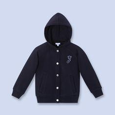 Cotton fleece hooded cardigan - Boy - NAVY BLUE - Jacadi Paris