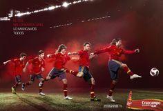 Cruzcampo Euro 2012 campaign by Diver and Aguilar.Featuring Xabi Alonso, Cesc Fàbregas, Juan Mata, Carles Puyol, Sergio Ramos.