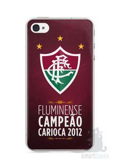 Capa Iphone 4/S Time Fluminense #2 - SmartCases - Acessórios para celulares e tablets :)
