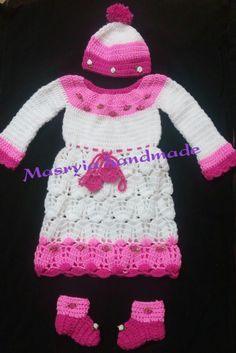 #dress #crochet #girl #handmade Crochet Hats, Sweaters, Handmade, Dresses, Fashion, Knitting Hats, Vestidos, Moda, Hand Made