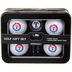 Divot Tools 108166: Texas Rangers 2016 4 Golf Ball And Divot Tool Set - Mlb BUY IT NOW ONLY: $34.99