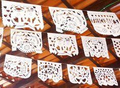Mexican Wedding Banner, Cinco De Mayo Papel Picado Banner, Fiesta Decorations, Spanish Nuestra Boda, Novios.