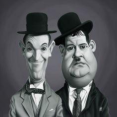 Laurel and Hardyart   decor   wall art   inspiration   caricatures   home decor   idea   humor   gifts
