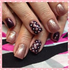 Fall polka dots! by TriciaBaldwin from Nail Art Gallery