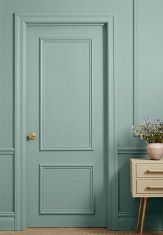 Lesser Seen Options for Custom Wood Interior Doors Black Interior Doors, Interior Trim, Interior Paint, Interior Decorating, Decorating Tips, Dark Interiors, Colorful Interiors, Classic Doors, Custom Wood Doors