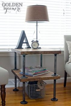 Mechanical Plumbing Pipe Furniture Ideas (10)