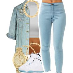 A fashion look from December 2014 featuring Old Friend jackets, Michael Kors watches and Tory Burch necklaces. Browse and shop related looks.