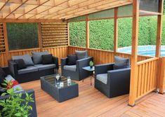 Semi Inground Pool Deck, Pergola, Spa, Outdoor Furniture Sets, Outdoor Decor, Pool Ideas, Dream Big, Patio, Design