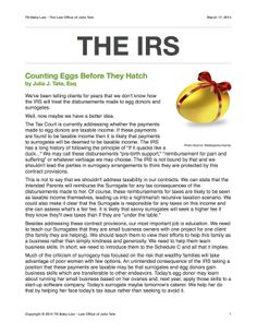 The IRS: Counting Eg