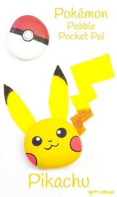 We love this easy and cute Pikachu Craft - a Pokémon pebble craft that's the perfect pocket pal you can actually play with! This fun Pebble…