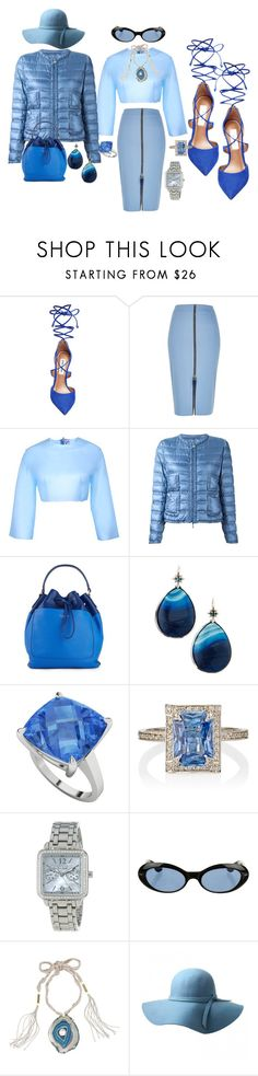 """""""Blue  Persuadtion"""" by blujay1126 ❤ liked on Polyvore featuring Steve Madden, River Island, Sydney-Davies, Moncler, Isaac Mizrahi, Stephen Dweck, StyleRocks, Cathy Waterman, Citizen and Gucci"""