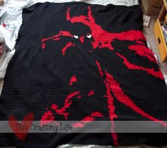 Ok mum, the Spiderman blanket you made me this christmas was great, but if u wanted an idea for next christmas... This Crafting Life: Batman Afghan { free crochet pattern}