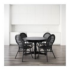 IKEA   INGATORP / ÄLMSTA, Table And 4 Chairs, Concealed Locking Function  Prevents Gaps