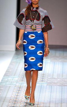 Stella Jean Spring/Summer 2014 Trunkshow Look 2 on Moda Operandi