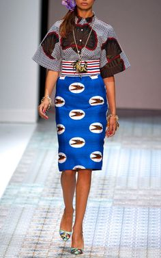 Stella Jean Spring/Summer 2014 Trunkshow Look 2 on Moda Operandi