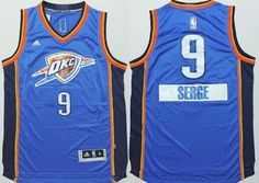 Oklahoma City Thunder #9 Serge Ibaka Revolution 30 Swingman 2014 Christmas Day Blue Jersey